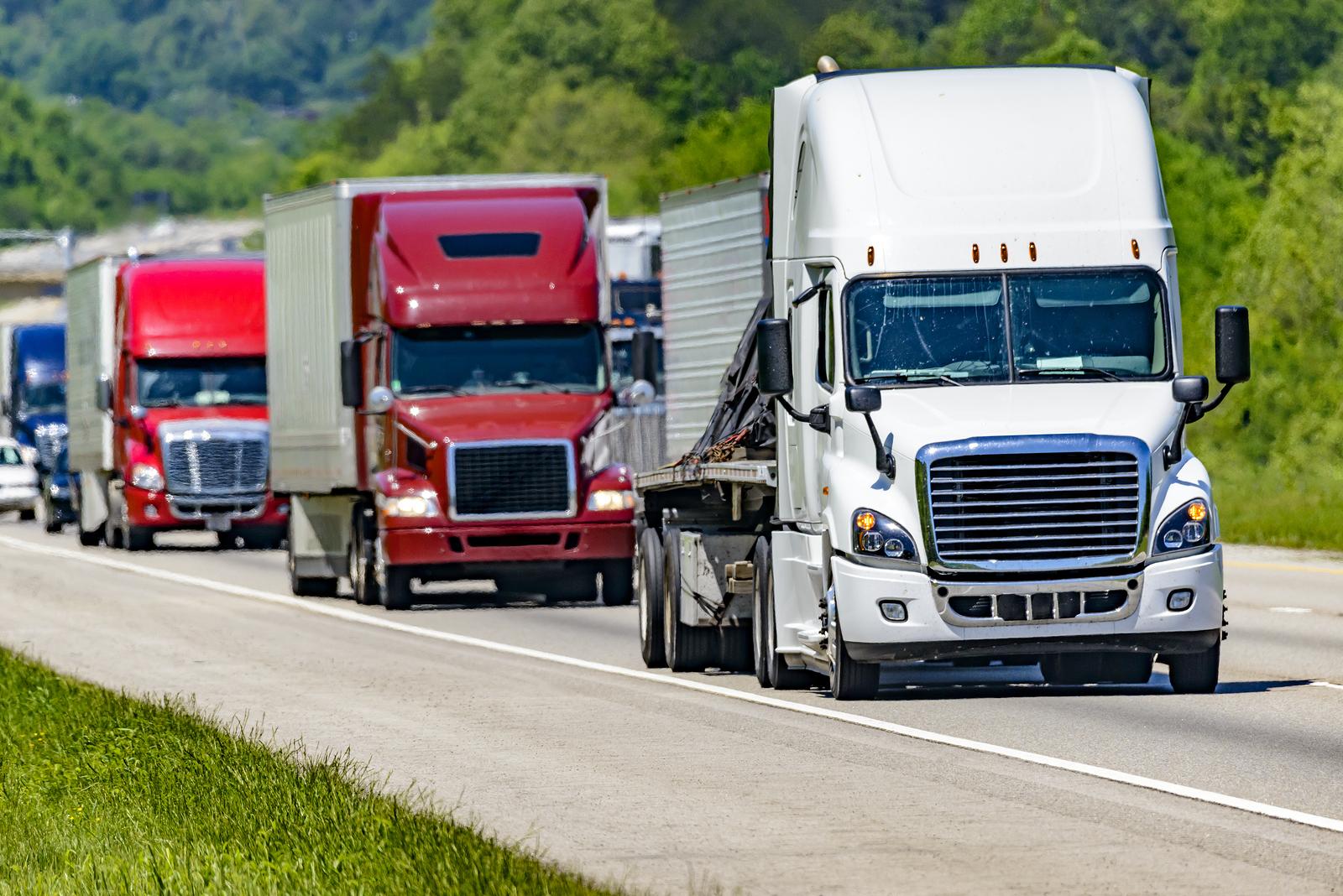Fleet of trucks that pay IFTA.