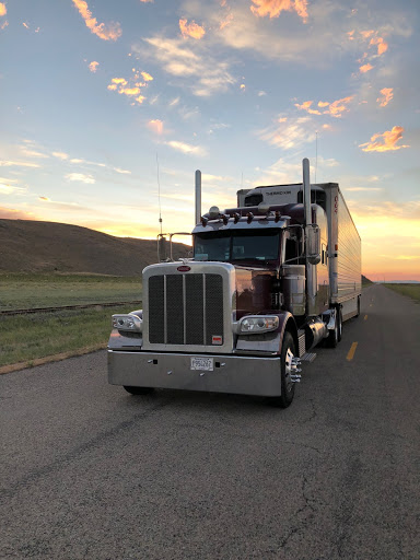 A successful truck that is part of owning a trucking company.
