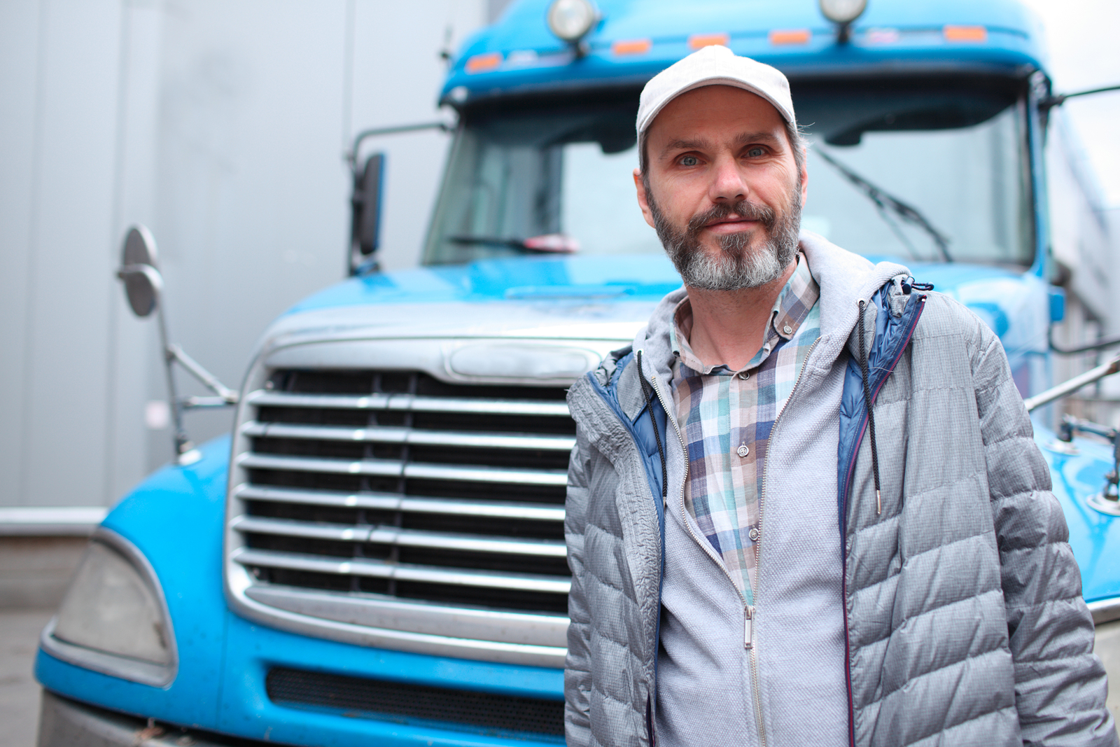 A man that got his job through truck driver recruiting.